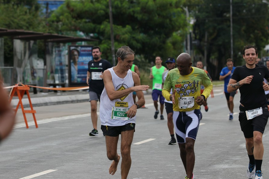 Encontrei um camarada do Atletismo Master
