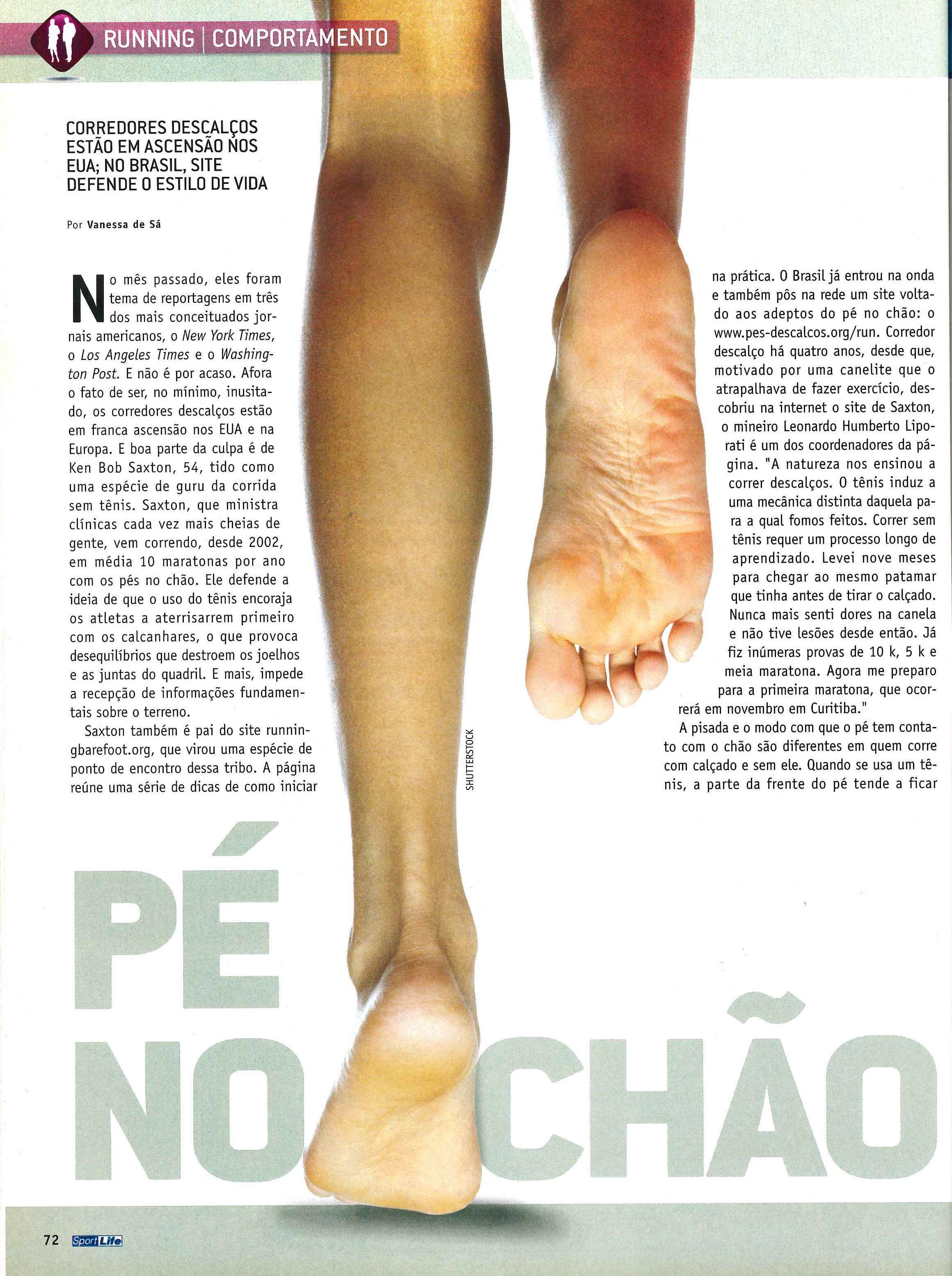 Leonardo Humberto Liporati e o site pes-descalcos.org são destaques
